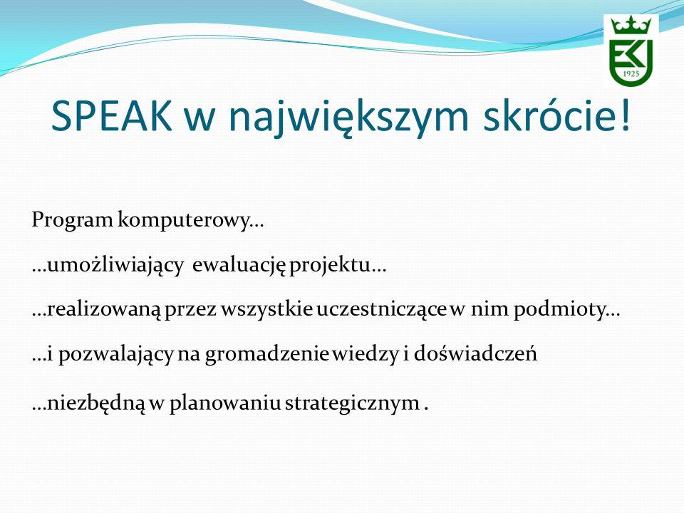 SPEAK w największym skrócie!