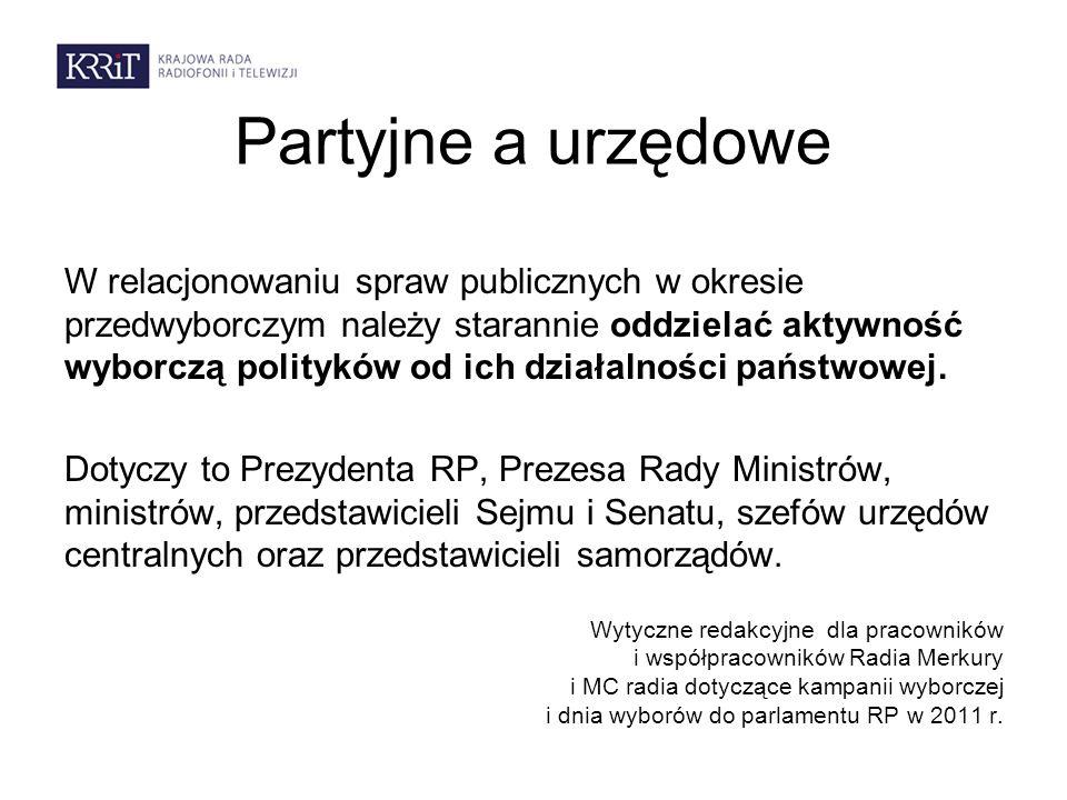 Partyjne a urzędowe