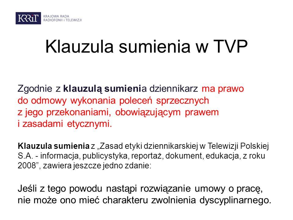 Klauzula sumienia w TVP