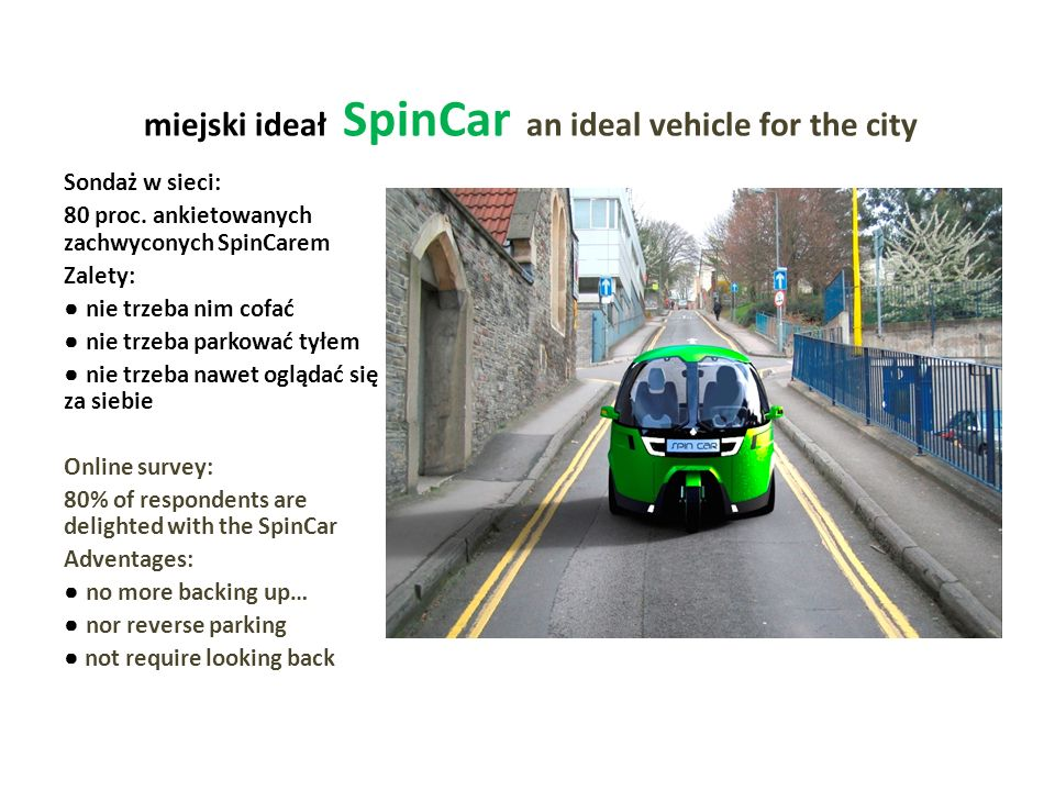 miejski ideał SpinCar an ideal vehicle for the city