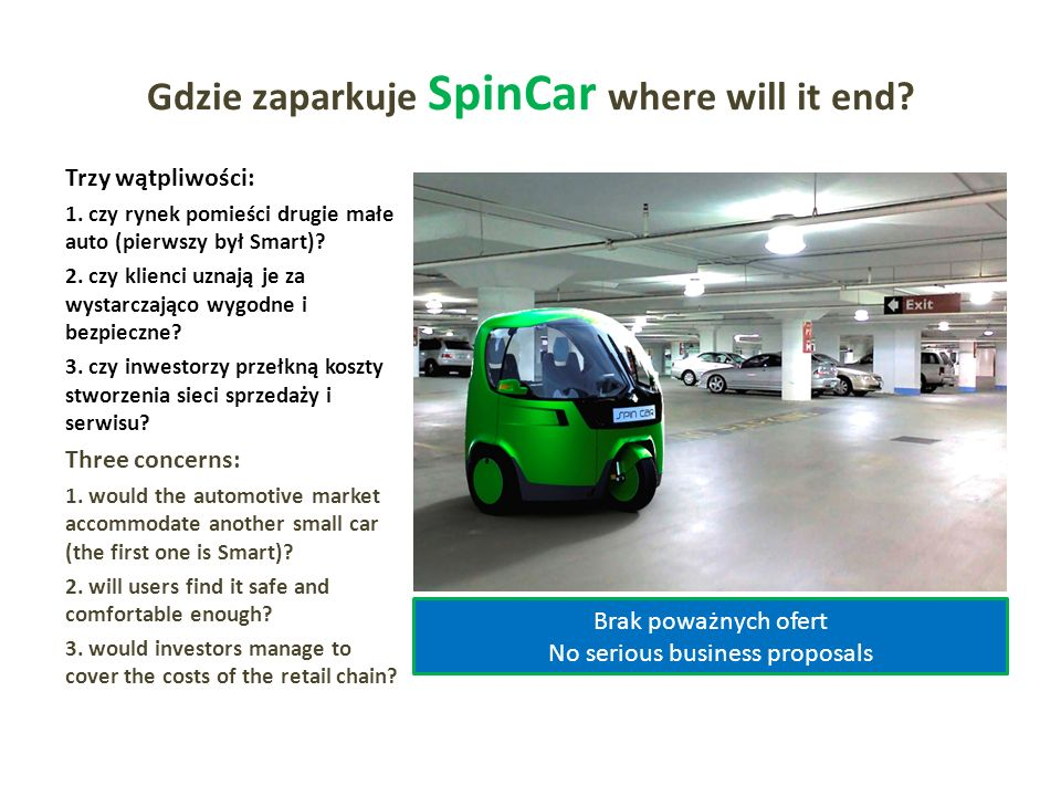 Gdzie zaparkuje SpinCar where will it end