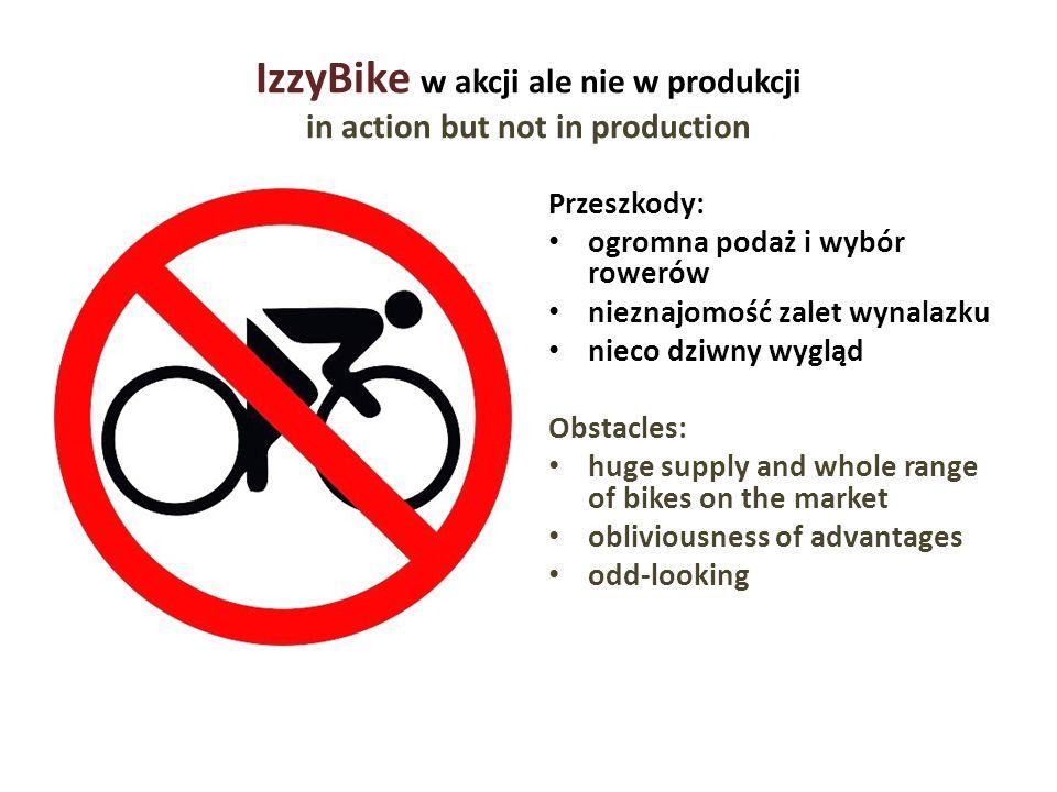 IzzyBike w akcji ale nie w produkcji in action but not in production