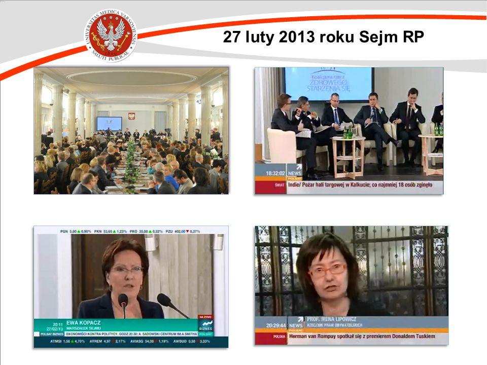 27 luty 2013 roku Sejm RP