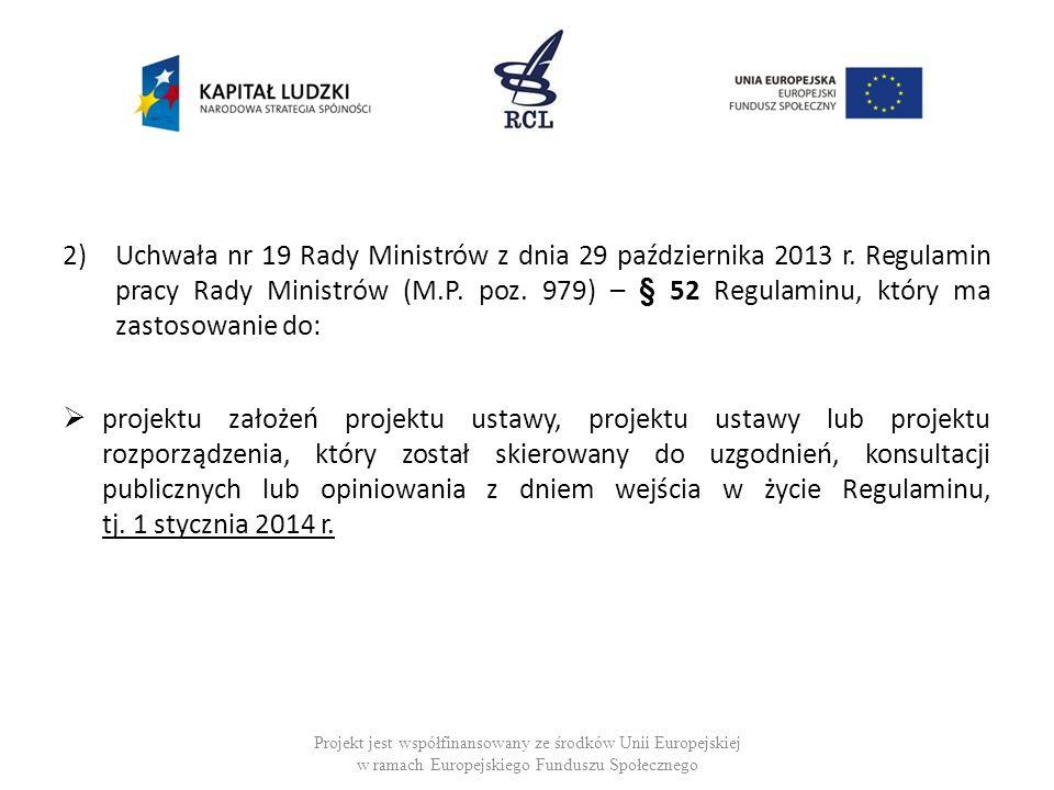 Uchwała nr 19 Rady Ministrów z dnia 29 października 2013 r