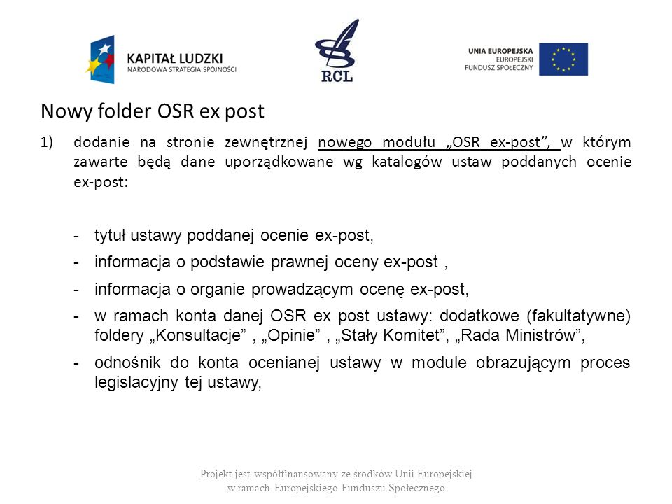 Nowy folder OSR ex post