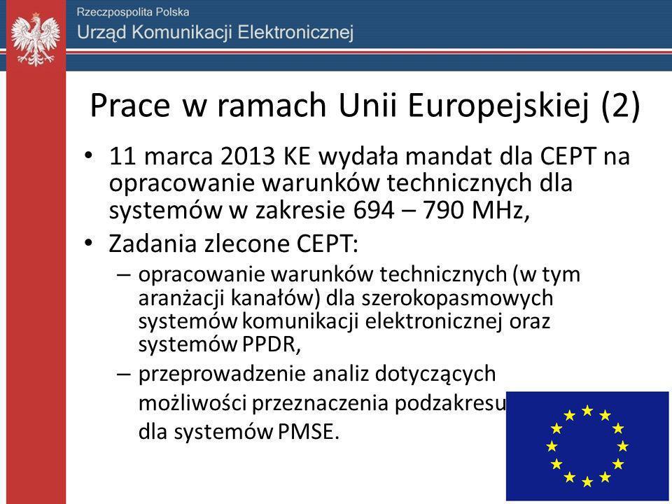 Prace w ramach Unii Europejskiej (2)