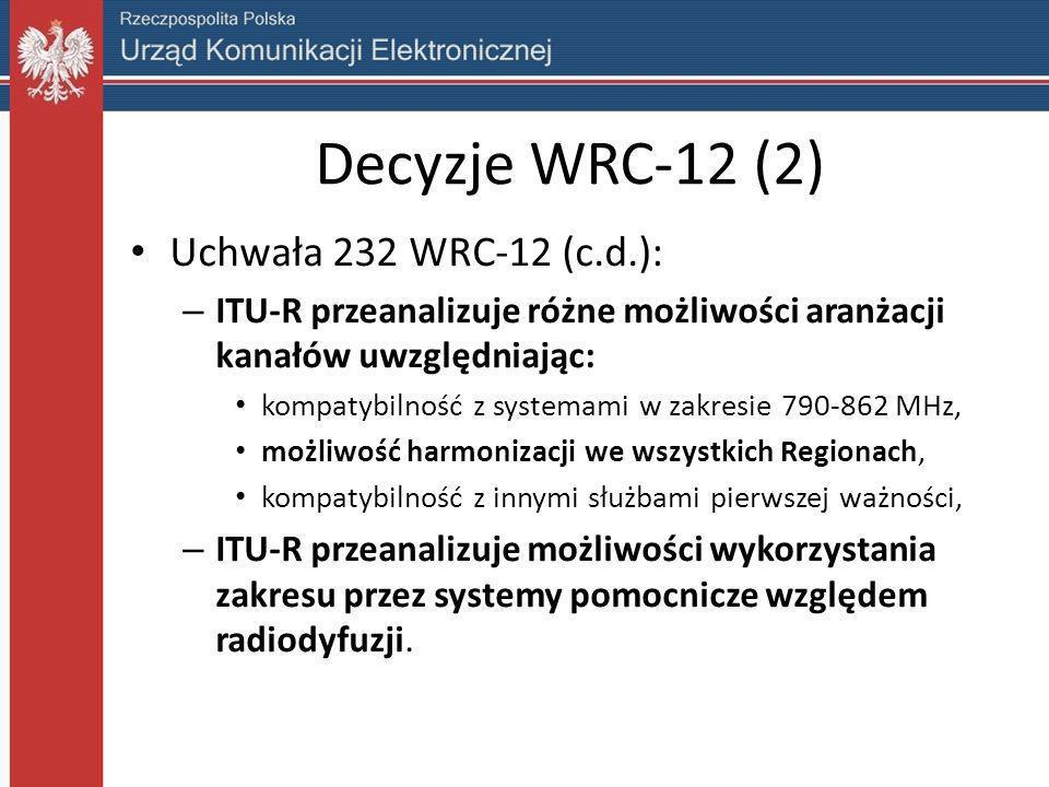 Decyzje WRC-12 (2) Uchwała 232 WRC-12 (c.d.):