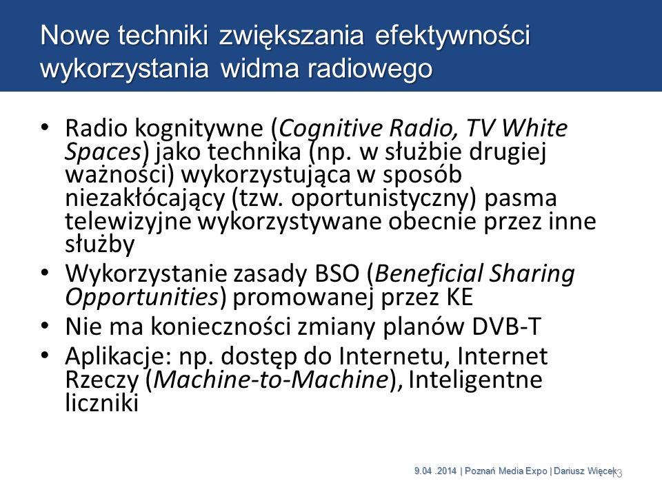 Nowe techniki zwiększania efektywności wykorzystania widma radiowego