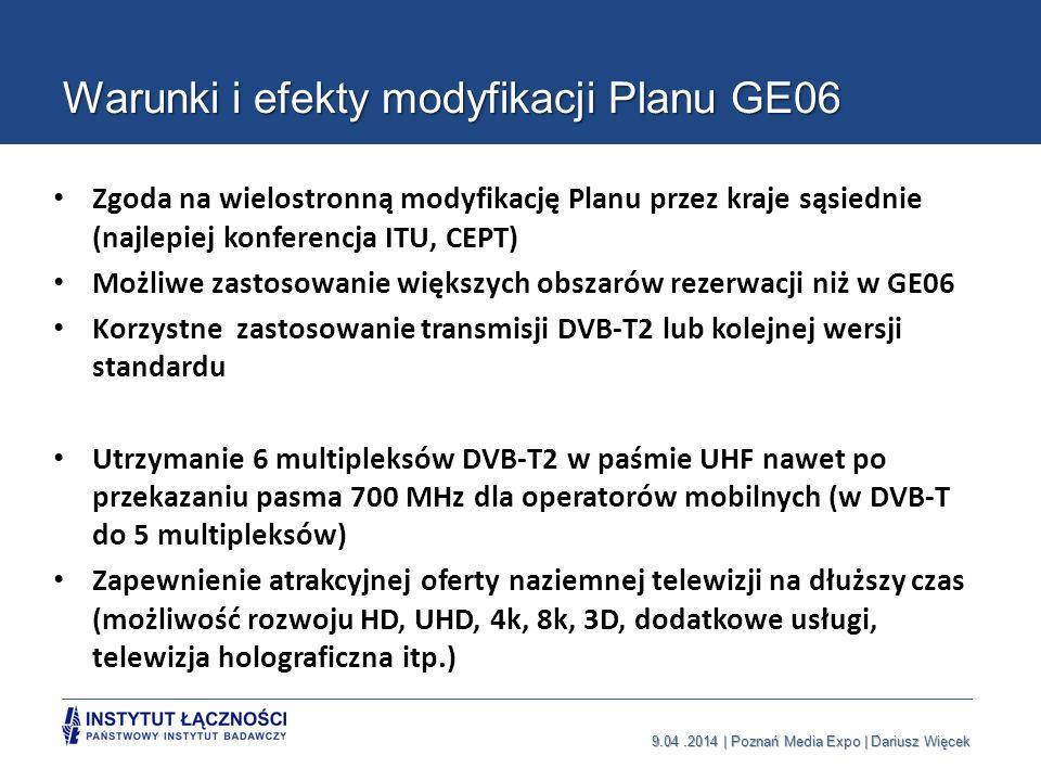 Warunki i efekty modyfikacji Planu GE06