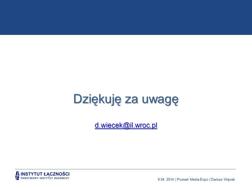 Dziękuję za uwagę d.wiecek@il.wroc.pl