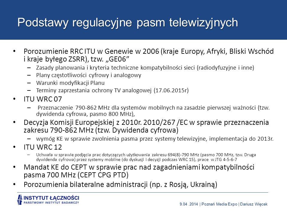 Podstawy regulacyjne pasm telewizyjnych