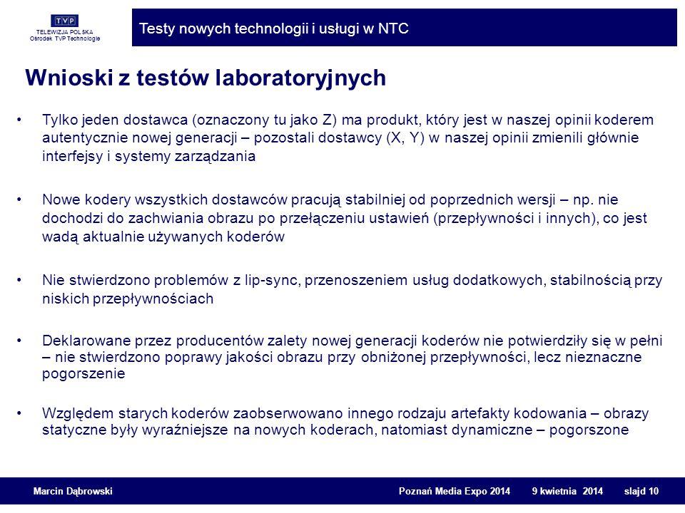 Wnioski z testów laboratoryjnych