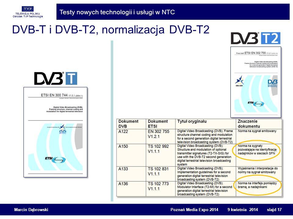DVB-T i DVB-T2, normalizacja DVB-T2