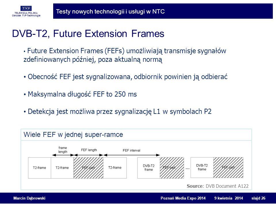 DVB-T2, Future Extension Frames