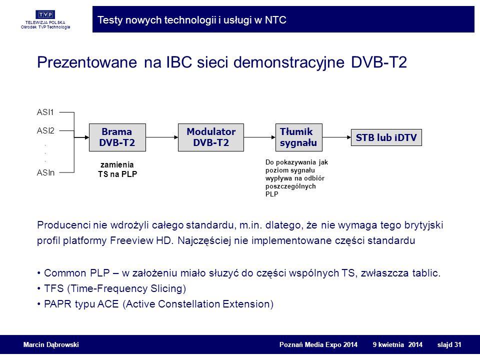 Prezentowane na IBC sieci demonstracyjne DVB-T2