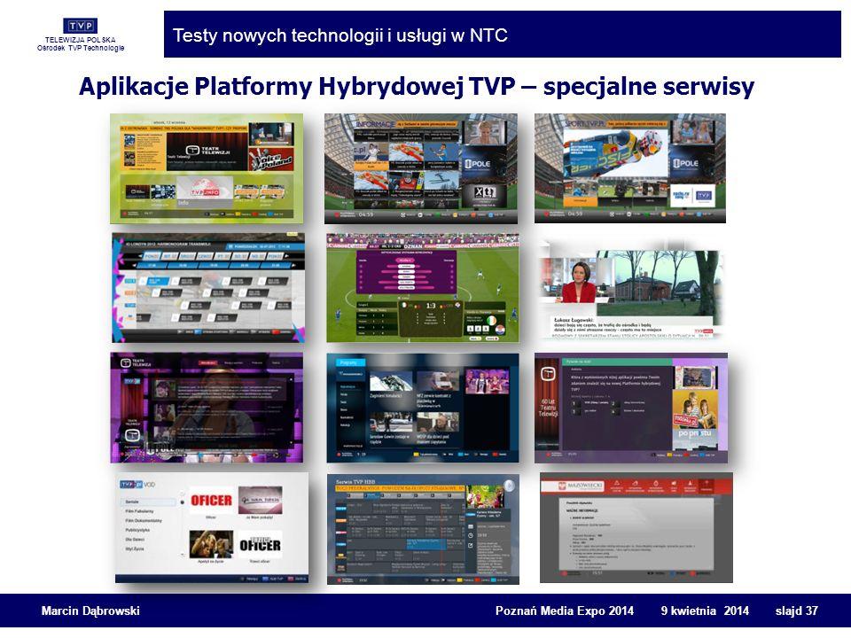 Aplikacje Platformy Hybrydowej TVP – specjalne serwisy
