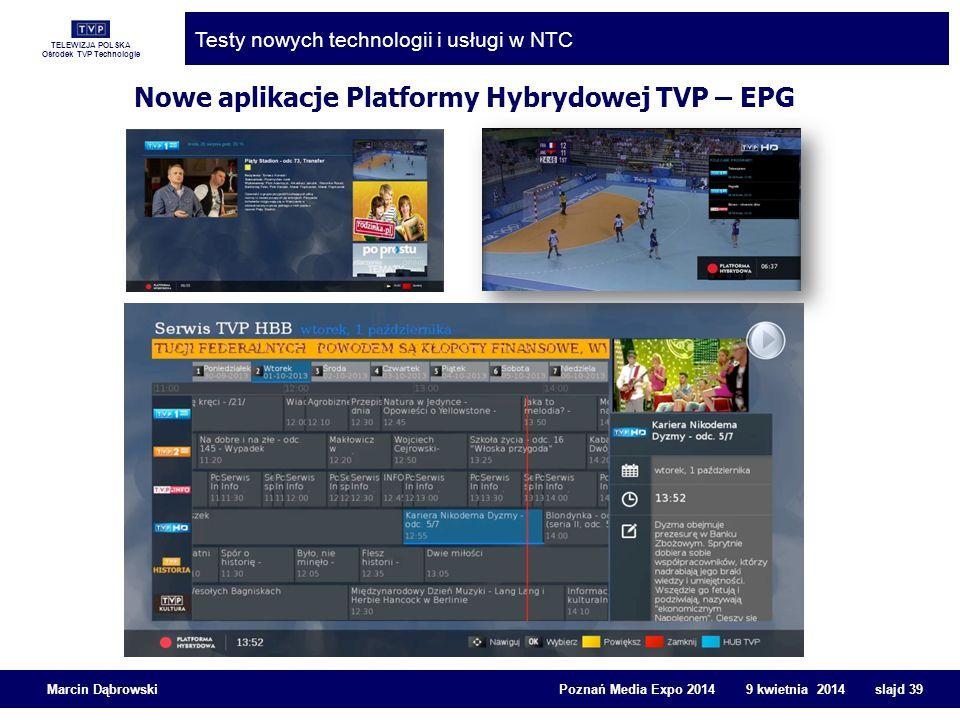 Nowe aplikacje Platformy Hybrydowej TVP – EPG
