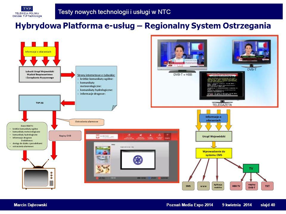 Hybrydowa Platforma e-usług – Regionalny System Ostrzegania