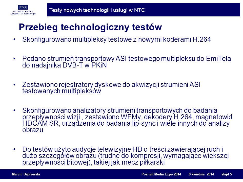 Przebieg technologiczny testów