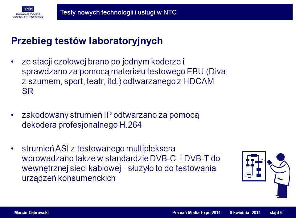Przebieg testów laboratoryjnych