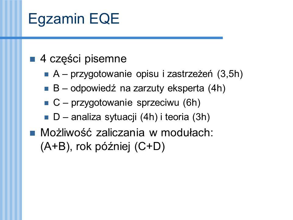 Egzamin EQE 4 części pisemne