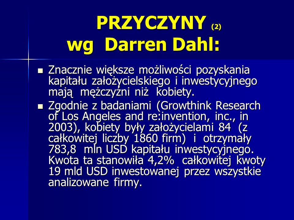 PRZYCZYNY (2) wg Darren Dahl: