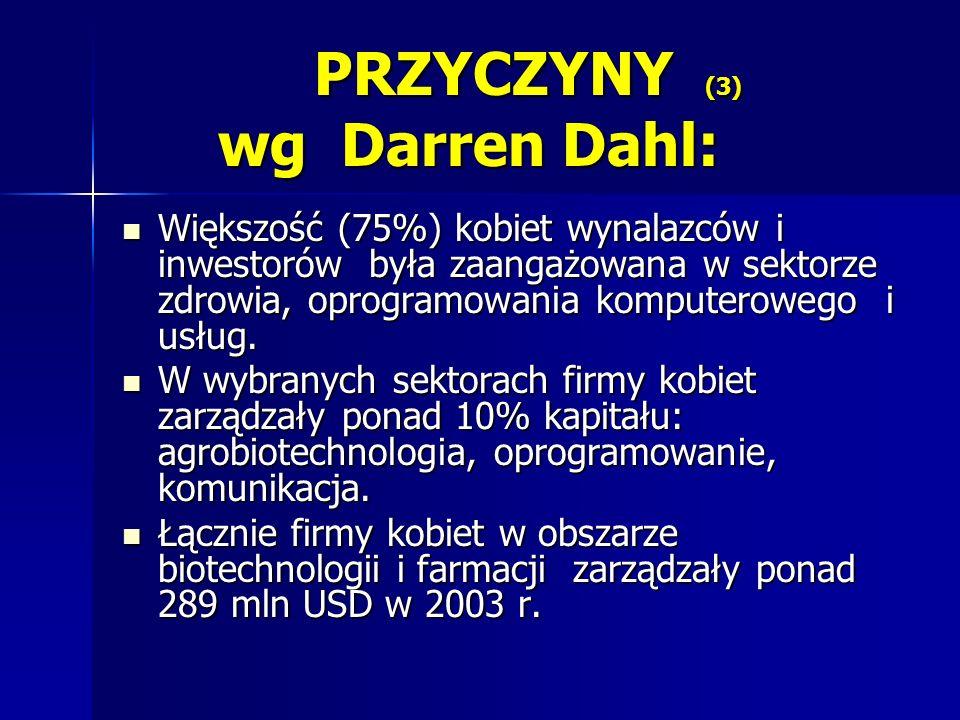 PRZYCZYNY (3) wg Darren Dahl: