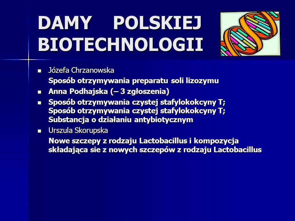 DAMY POLSKIEJ BIOTECHNOLOGII