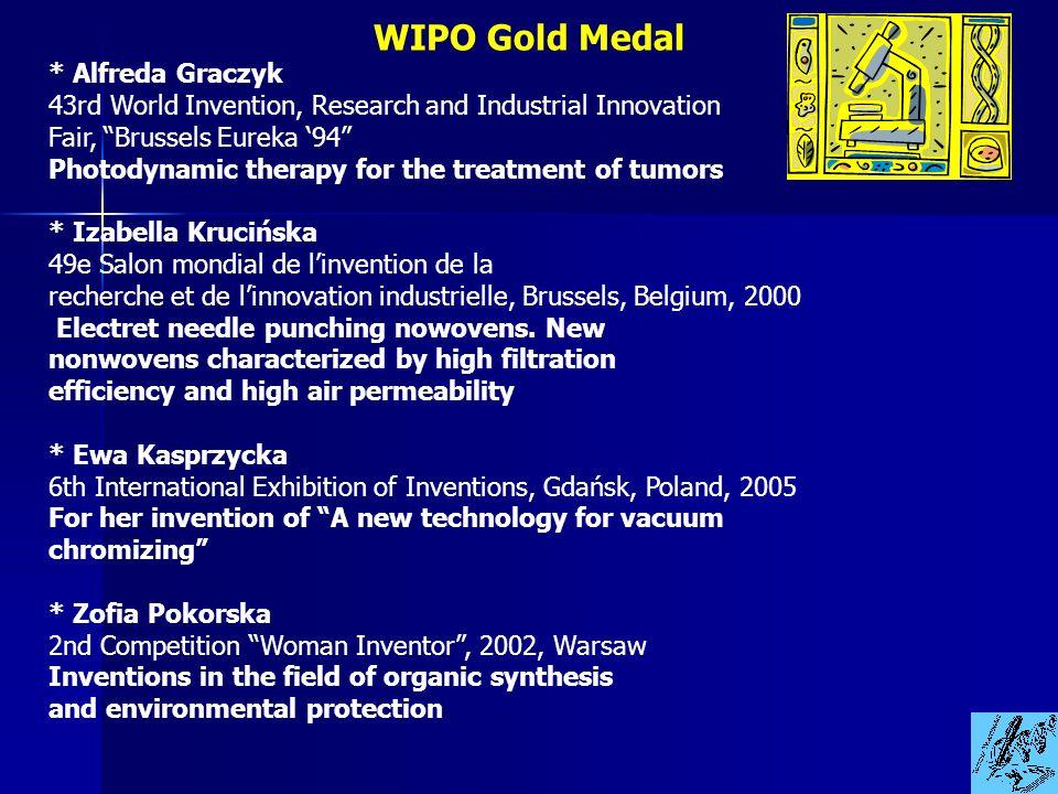 WIPO Gold Medal * Alfreda Graczyk