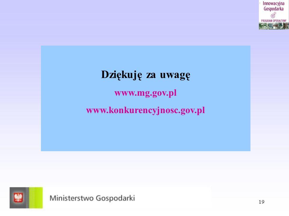 Dziękuję za uwagę www.mg.gov.pl www.konkurencyjnosc.gov.pl