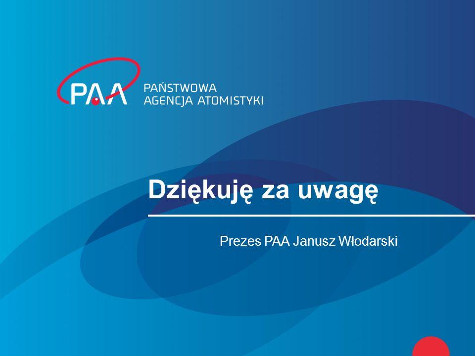 Dziękuję za uwagę Prezes PAA Janusz Włodarski