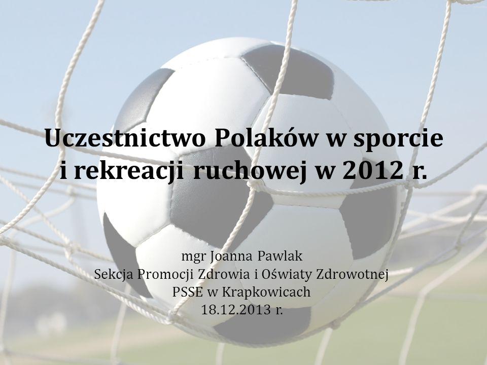 Uczestnictwo Polaków w sporcie i rekreacji ruchowej w 2012 r.