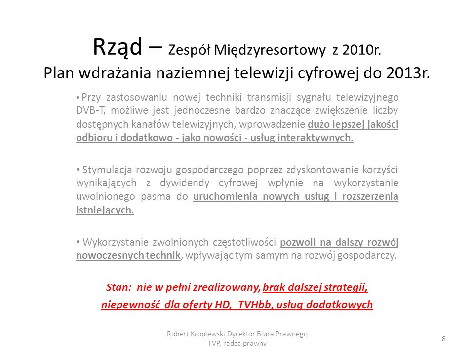 Rząd – Zespół Międzyresortowy z 2010r