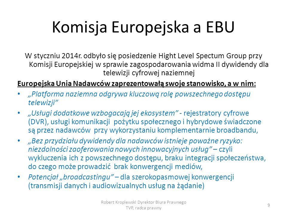 Komisja Europejska a EBU