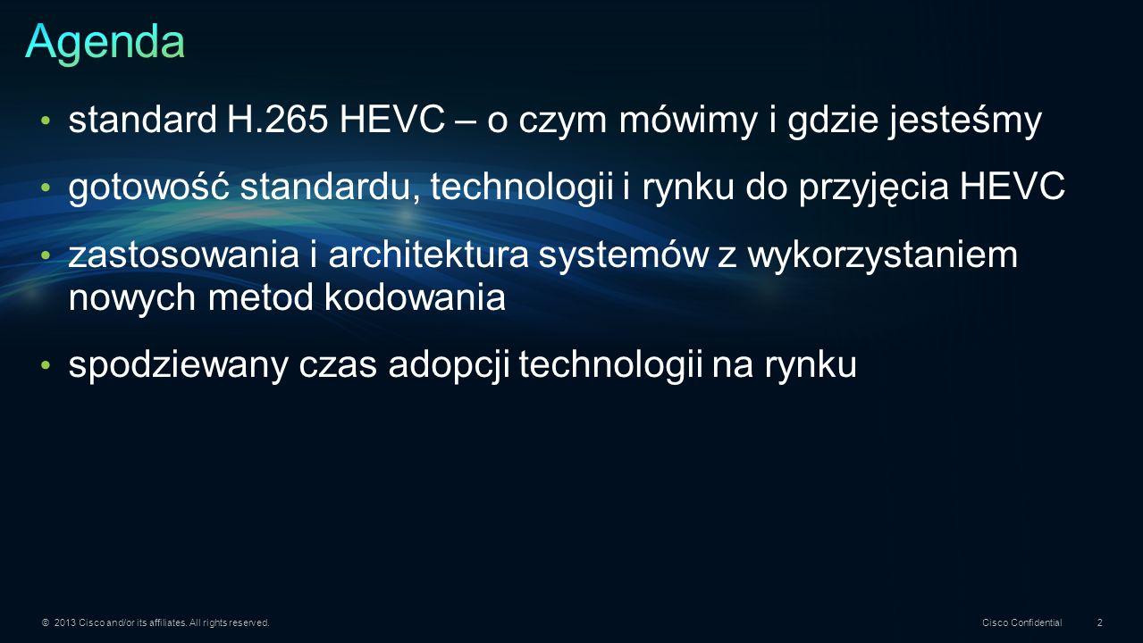 Agenda standard H.265 HEVC – o czym mówimy i gdzie jesteśmy