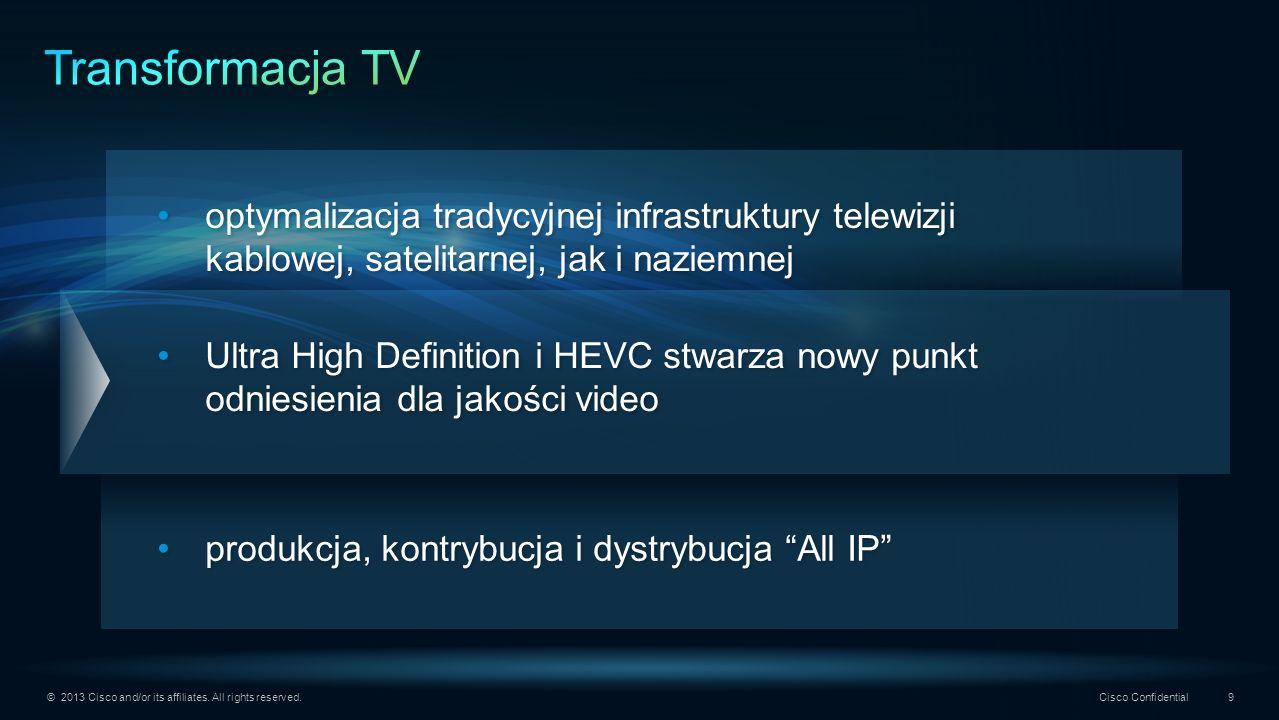 Transformacja TV optymalizacja tradycyjnej infrastruktury telewizji kablowej, satelitarnej, jak i naziemnej.