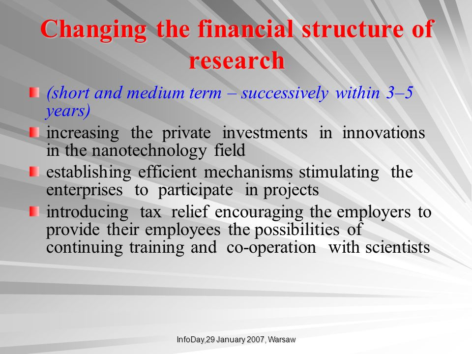 Changing the financial structure of research