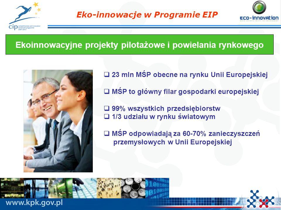 Ekoinnowacyjne projekty pilotażowe i powielania rynkowego