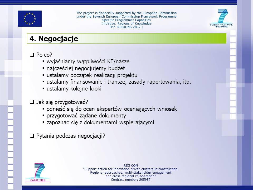 4. Negocjacje Po co wyjaśniamy wątpliwości KE/nasze