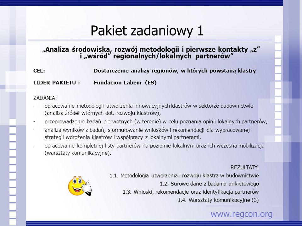 Pakiet zadaniowy 1 www.regcon.org