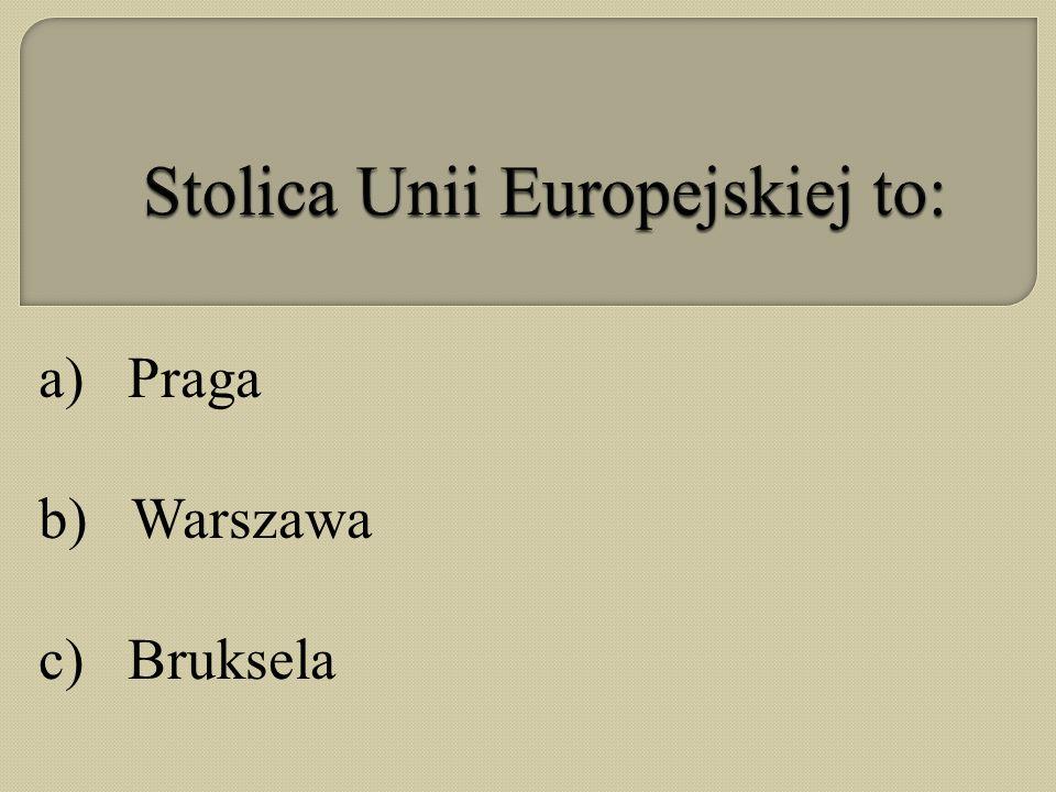 Stolica Unii Europejskiej to:
