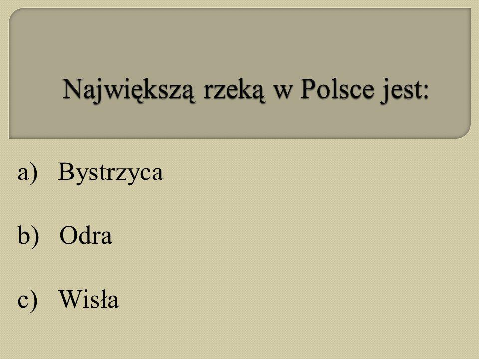 Największą rzeką w Polsce jest: