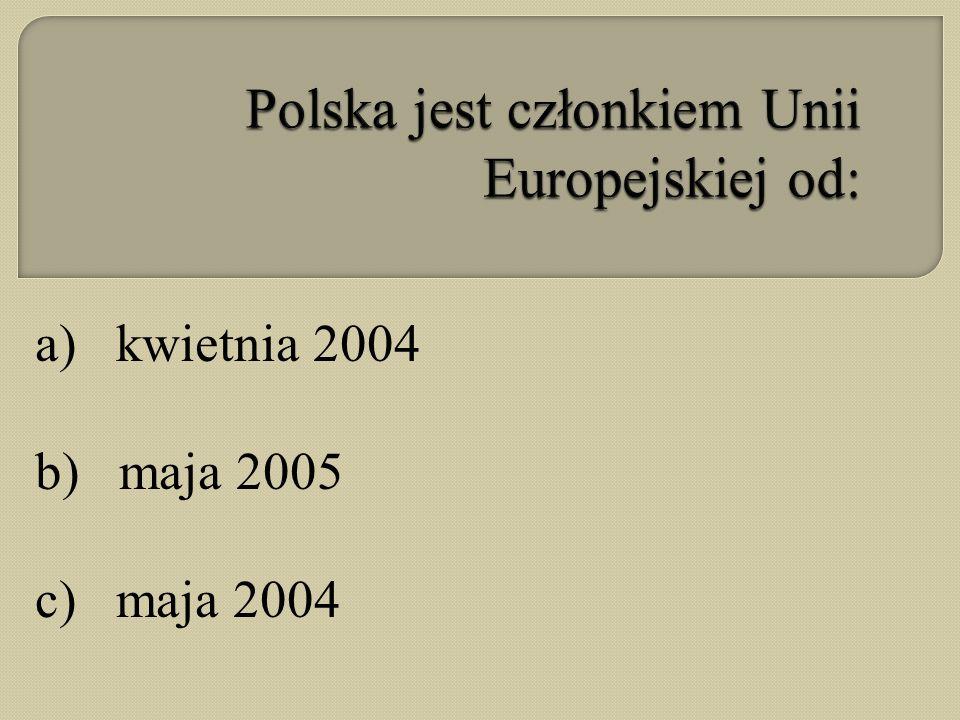 Polska jest członkiem Unii Europejskiej od: