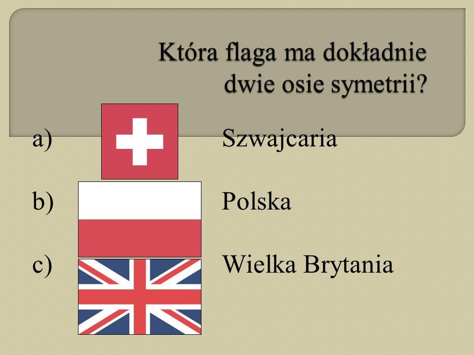 Która flaga ma dokładnie dwie osie symetrii
