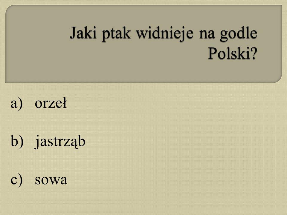 Jaki ptak widnieje na godle Polski