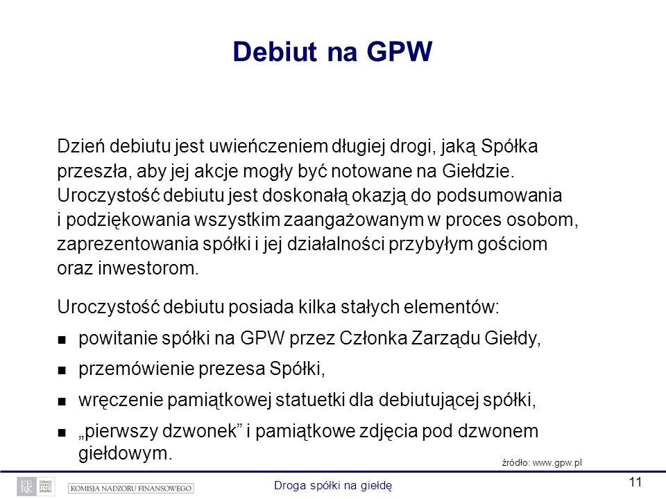 Debiut na GPW