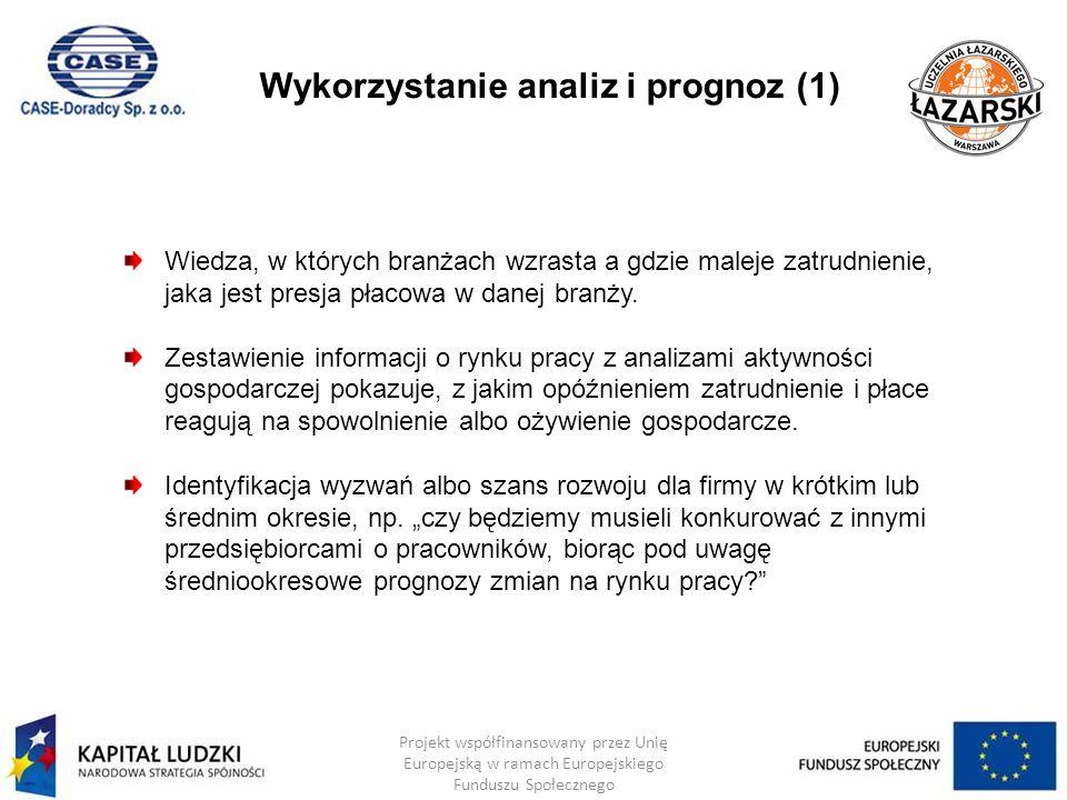 Wykorzystanie analiz i prognoz (1)