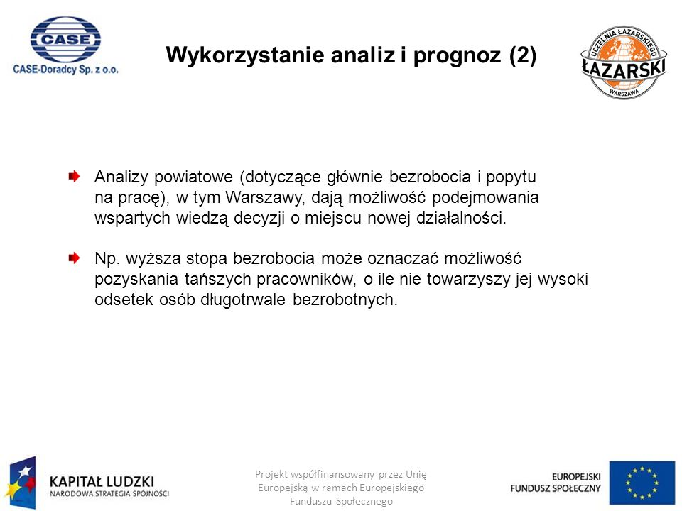 Wykorzystanie analiz i prognoz (2)