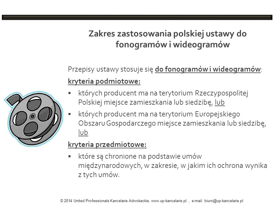 Zakres zastosowania polskiej ustawy do fonogramów i wideogramów