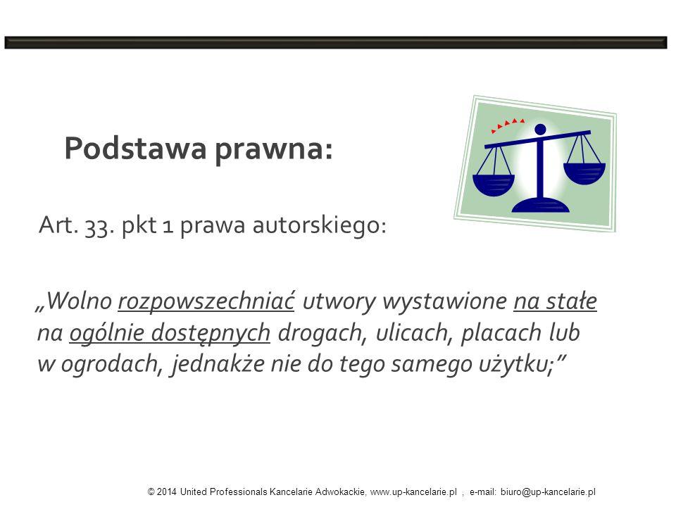 Podstawa prawna: Art. 33. pkt 1 prawa autorskiego:
